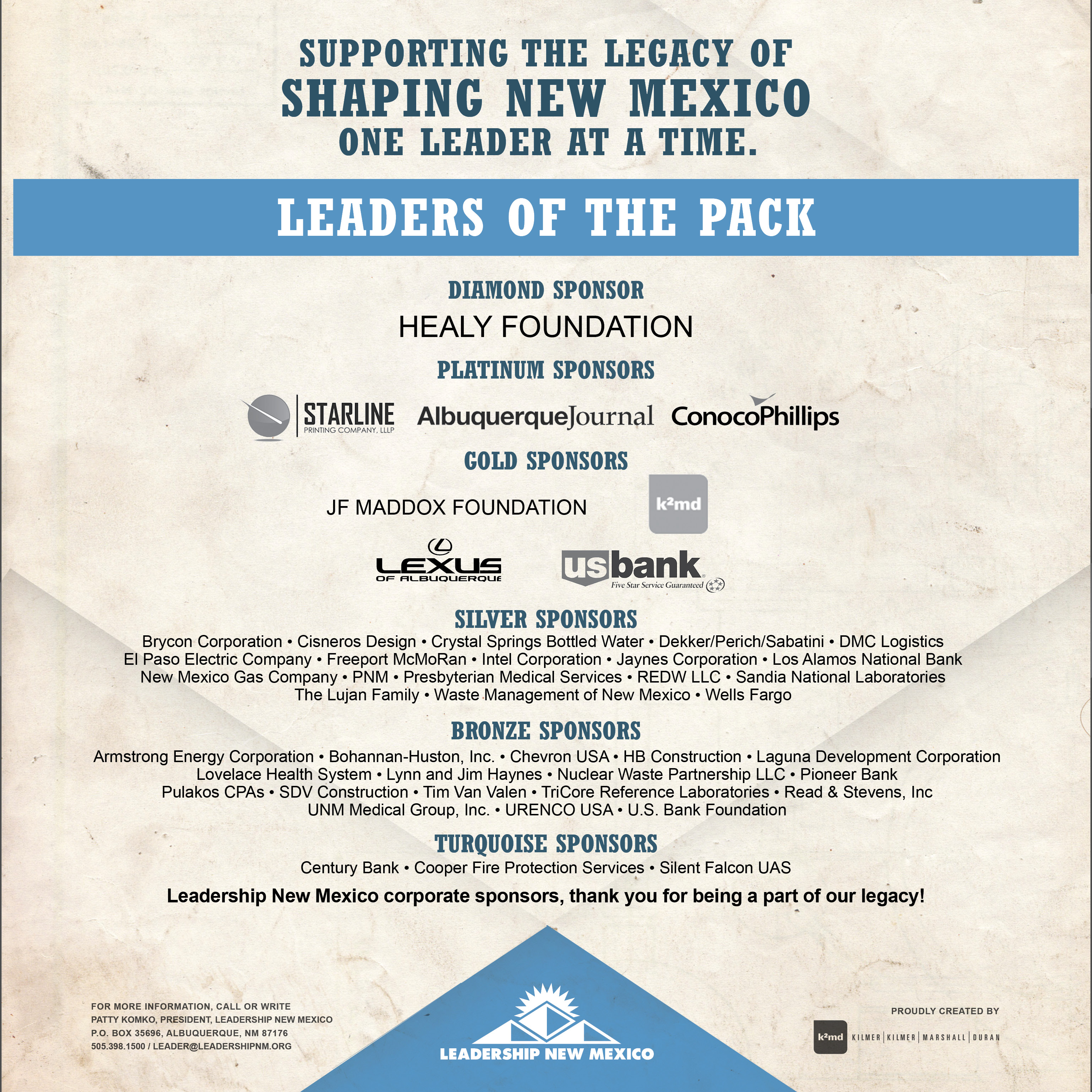 Leaders of the Pack Ad final - Leadership New Mexico
